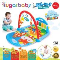 Playgym Play mat Matras Mainan Piano Sugar Baby Gym Alas Musik Bayi