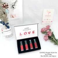Lipstick CHANEL Rouge Allure Ink by Ashley Paket 4 pc Liptint gift set