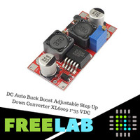 DC Auto Buck Boost Adjustable Step Up Down Converter XL6009 1~35 VDC