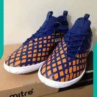 NEW Sepatu Futsal Mitre Invader IN Navy Citrus Orange T01040002