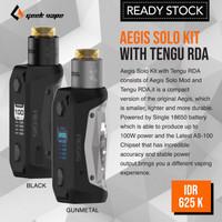 Authentic Geek Vape Aegis Solo Kit with Tengu RDA Vape Starter Kit Mod