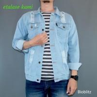 jaket jeans pria model sobek sobek jaket levis denim warna