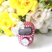 Tasbih digital Led Swarovski Pinky Bow Souvenir Cantik Alat Dzikir