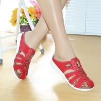 Sandal Wanita Casual Bakpau Mulan 1690 Red