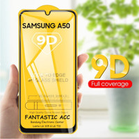 Samsung A50 Tempered Glass Full Lem 9D Temper Glass Anti Gores Kaca