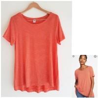 Kaos Wanita Big Size Branded ON Orange