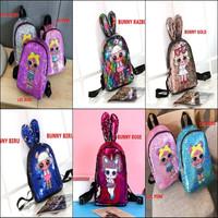 Tas LOL Anak LED Lampu Usap Sequin Ransel Backpack Import Original