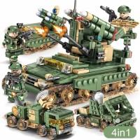Lego City Army Soldier tentara war mobil car Tank minifigures import