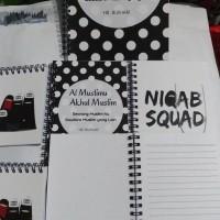 Custom Notebook A5 isi bergaris/blocknote 50ply