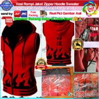 Vest Rompi Jaket Zipper Hoodie Sweater Anime Naruto Boruto SAGE HOKAGE