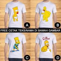 Kaos Dewasa The Simpsons Bart Homer Simpson Custom Teks/Nama