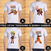 Kaos Dewasa Naruto Shippuden Pria Wanita Kartun Custom Teks/Nama