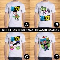 Kaos Dewasa Teen Titans Go Pria Wanita Kartun Custom Teks/Nama