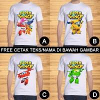 Kaos Dewasa Super Wings Pria Wanita Kartun Karakter Custom Teks/Nama