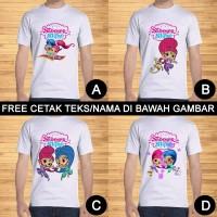 Kaos Dewasa Shimmer And Shine Pria Wanita Kartun Custom Teks/Nama