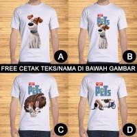 Kaos Dewasa Secret Life Of Pets Pria Wanita Kartun Custom Teks/Nama