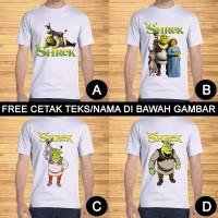 Kaos Dewasa Shrek Pria Wanita Kartun Karakter Custom Teks/Nama