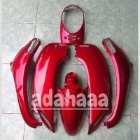 body halus Honda Scoopy fi merah maroon