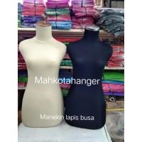 Manekin Bodi Cewek Dewasa DM kain Hitam | Patung display cewek busa