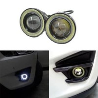 Projector Foglamp Angel eyes LED 76mm BODY METAL 2PCS