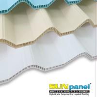 Atap PVC SUNPANEL 12mm - Cream Semi