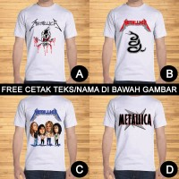 Kaos Dewasa Metallica Pria Wanita Custom Teks/Nama