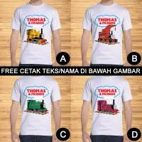 Kaos Dewasa Thomas The Tank Engine Train Kartun Custom Teks/Nama