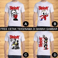 Kaos Dewasa Slipknot Pria Wanita Custom Teks/Nama
