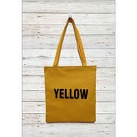 Osfor Tote Bag Tas Belanja Kuliah Bahan Anti Air Wanita Yellow