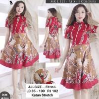 Dress Batik Imlek / Dress Batik Bawahnya Lebar