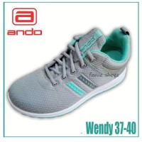 Fanie Shoes - Ando Wendy Grey 37-40 / Sneakers Wanita