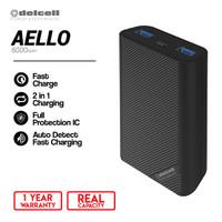 Delcell AELLO Powerbank 6000mAh Polymer Battre Real Capacity