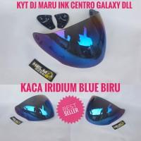 Kaca Visor - KYT DJ MARU INK CENTRO GALAXY SLIDE GIX G2 JDS Blue biru