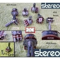 Stereo 20K Potensiometer 20 K Kilo Potensio meter B20K Tune volume
