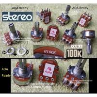 Stereo 100K Potensiometer 100 K Kilo Potensio meter B100K Tune volume