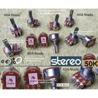 Stereo 50K Potensiometer 50 K Kilo Potensio meter B50K Tune volume