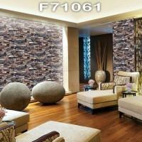 Wallpaper Dinding Motif Batu Kali MANSION F71061 - F7106