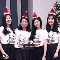 Kaos Natal Putih Edisi Natal Christmas Cewek cowok
