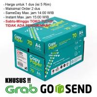 Kertas HVS A4 Copy Paper 70 gsm 1 Dus/5 Rim (KHUSUS GOSEND/GRAB)
