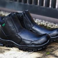 Sepatu Kickers Safety Zipper Kulit sapi / Sepatu Kerja Lapangan Pria