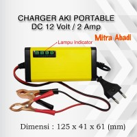 Charger Aki Portable DC 12V 2A / 2 Ampere