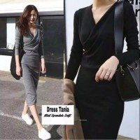 Baju Long Dress Wanita korea Import sjze Xs-XL 2 wrna