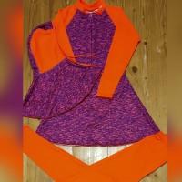 baju renang anak muslimah tanggung motif pelangi
