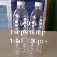 Botol 600 Ml Plastik pet tanpa tutup (khusus Instant gojek-grab )