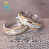 Cincin Kawin Couple Tunangan Palladium Sepasang G-376