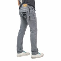 Celana Panjang Jeans Skinny Pria Bobok Abu
