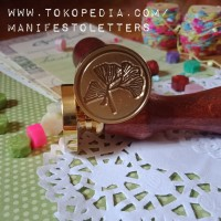 Sealing Wax Stamp Ginkgo stempel segel lilin planner DIY envelope mail