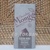 COKELAT MONGGO COCOA NIBS DARK CHOCOLATE 69% KAKAO 80 GR