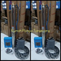 Pompa submersible york 0.5hp kabel hitam casing pipa sumur bor 3 inch