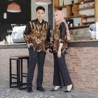 Baju Batik Couple Kemeja Batik Sarimbit Katun COUPLE SALWA
